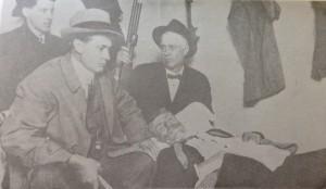 Baldwin-Felts detectives arrest wounded Floyd Allen at hotel in Hillsville, March 15, 1912.