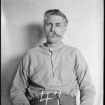 Mug shot of Floyd Allen taken at the state penitentiary in Richmond, Virginia, where he would die in the electric chair. Library of Virginia.