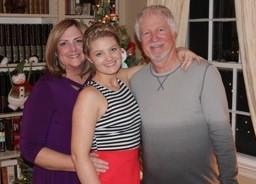 Kay Carlson, daughter, husband